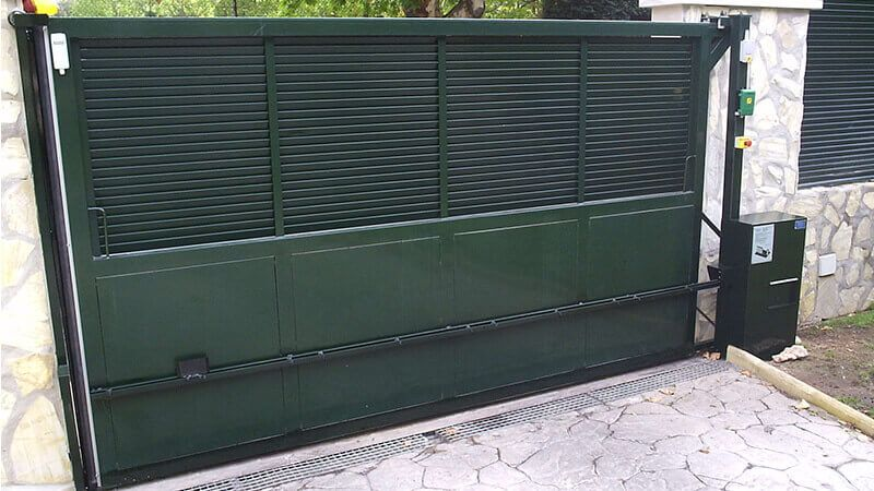 Detalle automatización puerta deslizante (e4590)