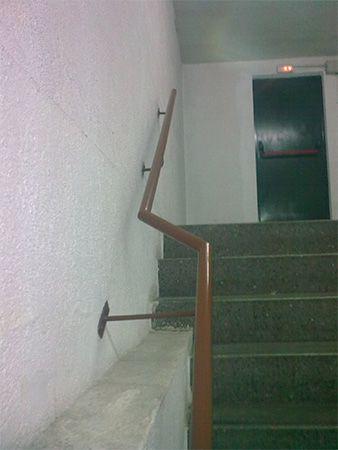 Pasamano en escalera